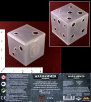 Dice : MINT35 GAMES WORKSHOP BOMBARDMENT DICE 02 CONTAINER DIE