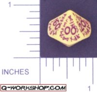 Dice : D10 OPAQUE ROUNDED SOLID Q WORKSHOP RUNIC 04