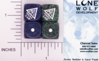 Dice : D6 OPAQUE ROUNDED SPECKLED LONE WOLF HERO LAB 01