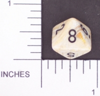 Dice : D8 OPAQUE ROUNDED SWIRL CHESSEX MENAGERIE 02