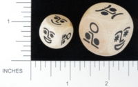 Dice : WOOD UNKNOWN 43 FACIAL EXPRESSIONS BKTRADE