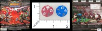 Dice : D10 OPAQUE ROUNDED SOLID UPPER DECK WORLD OF WARCRAFT MINIATURES GAME 01