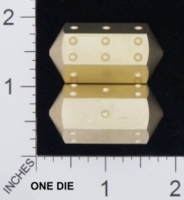 Dice : MINT18 ACE PRECISION D6 BRASS PIPPED SPINDLE 01