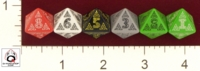 Dice : D8 OPAQUE ROUNDED SOLID Q WORKSHOP CELTIC II V 01