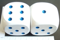 Dice : LOOSE WOOD BLUE PIPS