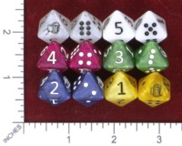 Dice : MINT46 BIGFOOTSES GAMES DRINKING DICE