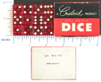 Dice : MINT1 CRISLOID RED CLEAR 12 FIVE EIGHTHS 01