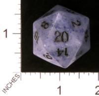 Dice : STONE D20 CRYSTAL CASTE JASPER BLUE 01