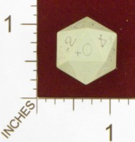 Dice : D20 OPAQUE SHARP SOLID GAMESCIENCE + 01