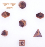 Dice : STONE MULTI CRYSTAL CASTE TIGER EYE 01