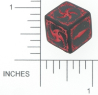 Dice : NON NUMBERED OPAQUE ROUNDED SOLID Q WORKSHOP ANNE STOKES 01