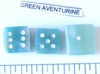 Dice : STONE D6 GREEN AVENTURINE