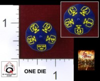 Dice : D10 OPAQUE ROUNDED SOLID Q WORKSHOP CUSTOM FOR WARGAMER OGNIEM I MIECZEM BY FIRE AND SWORD