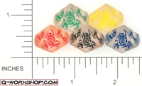 Dice : D10 CLEAR ROUNDED SOLID Q WORKSHOP APOCALIPS 01