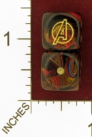 Dice : MINT26 CHESSEX MARVEL AVENGERS 01