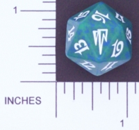 Dice : D20 OPAQUE ROUNDED SPECKLED MTG LIFE COUNTERS COLDSNAP 02