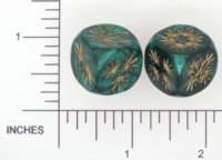 Dice : D6 2 OPAQUE ROUNDED IRIDESCENT DICE AND GAMES MARAJUANA 03