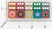Dice : D6 OPAQUE ROUNDED SOLID FIELD MARSHAL GAMES COMBAT DICE 01