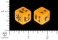 Dice : MINT54 STUDIO 6D6 Q WORKSHOP PUMPKIN DICE