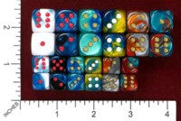 Dice : MINT46 CHESSEX 2015 D6 COLORS 01