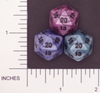 Dice : D20 OPAQUE ROUNDED IRIDESCENT KOPLOW 02