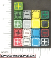 Dice : NON NUMBERED OPAQUE ROUND SOLID Q WORKSHOP RUNIC FUDGE 01