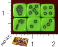 Dice : MINT38 COOL MINI OR NOT ZOMBICIDE GREEN