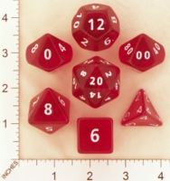 Dice : MINT19 CRYSTAL CASTE CLEAR ROUNDED SOLID RED 02