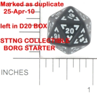 Dice : D20 OPAQUE ROUNDED SOLID UNKNOWN BKTRADE 01