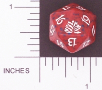 Dice : D20 OPAQUE ROUNDED SPECKLED MTG LIFE COUNTERS ORIGINAL LOTUS 01