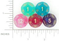 Dice : D12 TRANSLUCENT ROUNDED GLITTER CHESSEX BOREALIS 3
