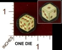Dice : MINT29 UNKNOWN UKRAINIAN PAINTED BONE 01