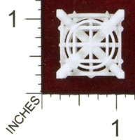 Dice : MINT43 SHAPEWAYS MCTRIVIA D6 GRID DIE 12 10