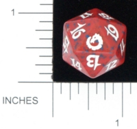 Dice : D20 OPAQUE ROUNDED SPECKLED MTG LIFE COUNTERS TORMENT 03