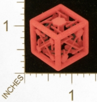 Dice : MINT27 SHAPEWAYS MCTRIVIA D6 GRID DIE 10 06