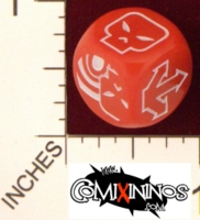 Dice : MINT20 COMIXININOS BLOOD BOWL BLOCK DICE 01