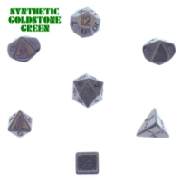 Dice : STONE MULTI CRYSTAL CASTE GOLDSTONE SYNTHETIC GREEN