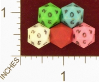 Dice : D20 OPAQUE SHARP SOLID GAMESCIENCE MICROHEDRA 01