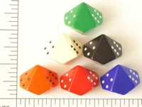Dice : D10 OPAQUE ROUNDED SOLID JUMBO PIPPED 1