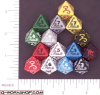 Dice : D8 OPAQUE ROUNDED SOLID Q WORKSHOP CALL OF CTHULHU 01