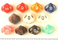 Dice : D10 OPAQUE ROUNDED IRIDESCENT 2