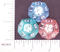 Dice : D12 CLEAR SHARP SOLID KOPLOW DOUBLE DICE 2