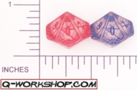 Dice : D10 CLEAR ROUNDED SOLID Q WORKSHOP MYSTIC 02