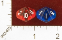 Dice : D10 CLEAR ROUNDED SOLID UNKNOWN CHINESE TRUE D10 01