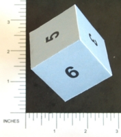 Dice : PAPER D06 NUMBERED
