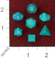 Dice : MINT41 CRYSTAL CASTE HOWLITE DYED GREEN