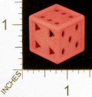 Dice : MINT27 SHAPEWAYS MCTRIVIA D6 GRID DIE 07 12