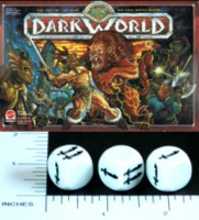 Dice : NON NUMBERED OPAQUE ROUNDED SOLID DARK WORLDS