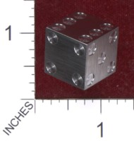 Dice : MINT36 CYBERNETIC RESEARCH LABORATORIES AMBER RIX MACHINED PRECISION DICE TUNGSTEN