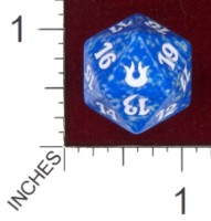 Dice : D20 OPAQUE ROUNDED SPECKLED MTG LIFE COUNTERS BORN OF THE GODS 03